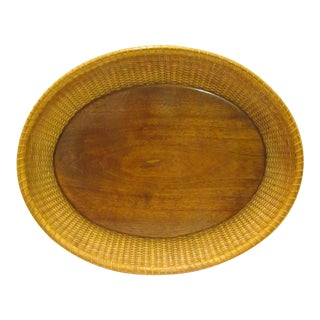 Oval Authentic Nantucket Basket Tray
