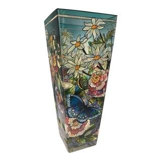Hand Painted Amia Suncatcher Glass Vase