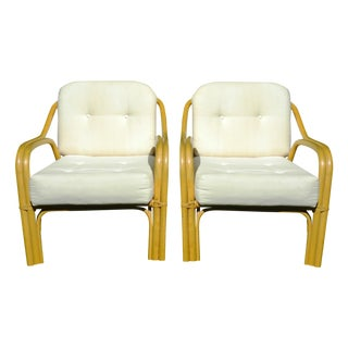 Vintage Cal-Tiki Bamboo Lounge Chairs - A Pair