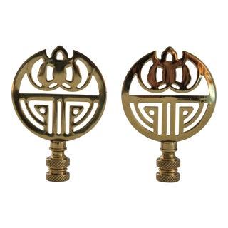 Brass Art Deco Style Finials - A Pair
