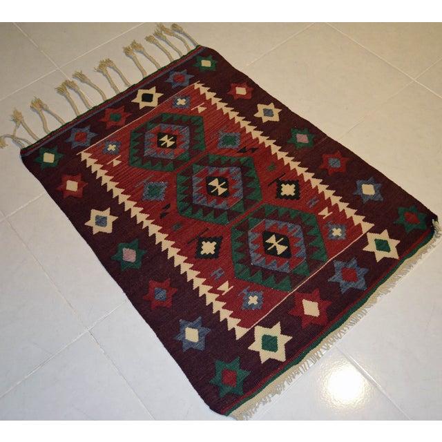 Hand-Woven Turkish Flatweave Rug - 2′7″ × 3′7″ - Image 3 of 9