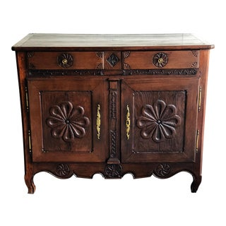 Antique French Farmhouse 2-Door Server