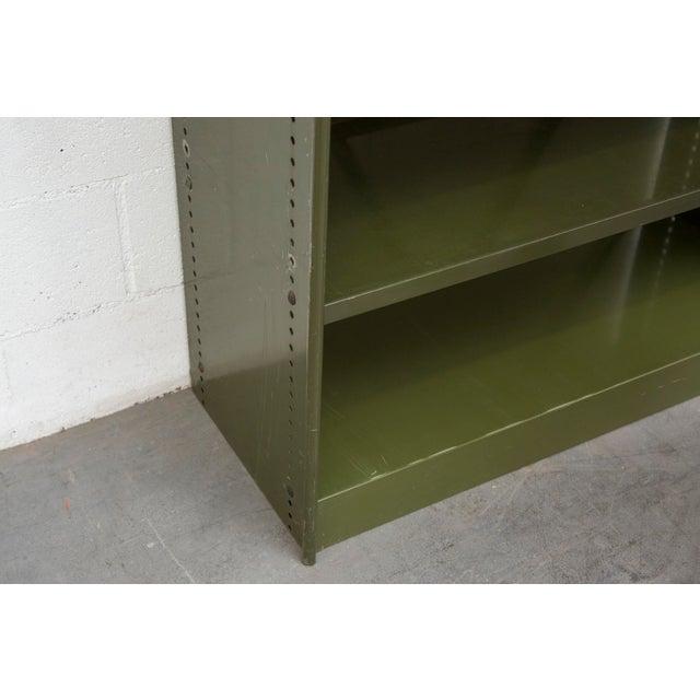 Industrial Military Sheet Metal Bookshelf - Image 6 of 10