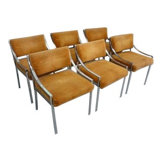 Mid-Century Modern Chrome Dining Chairs - Set of 6