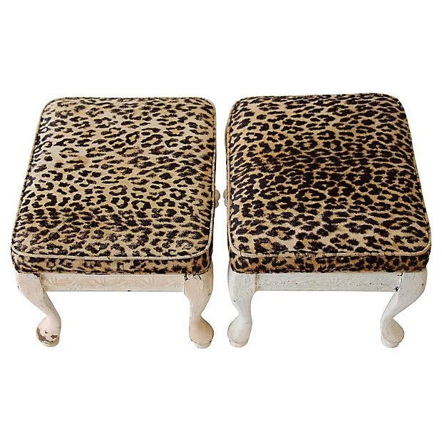 Leopard Print Footstools - A Pair - Image 4 of 5