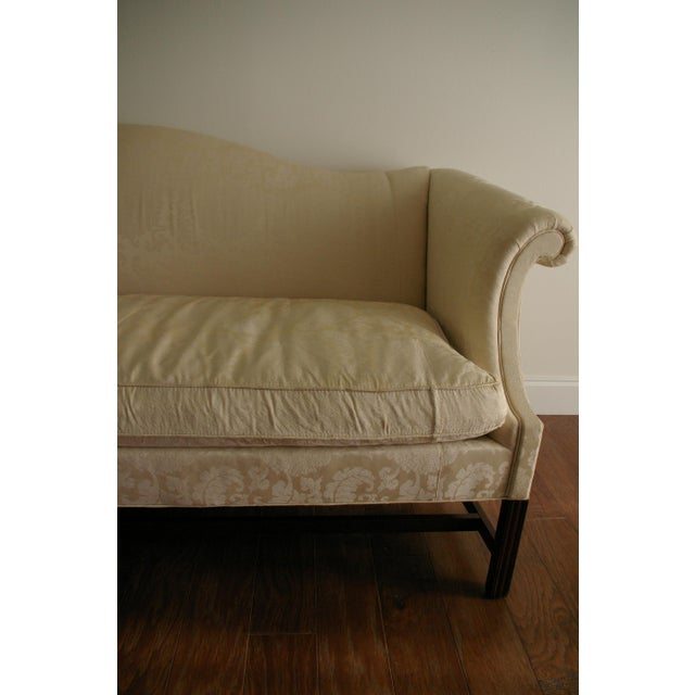 Vintage Hickory Chair Chippendale White Sofa - Image 7 of 8