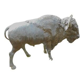 Enormous Bronze Bison Statue