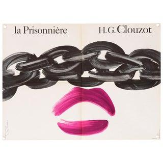 """Vintage """"La Prisonniere"""" 1968 French Film Poster"""