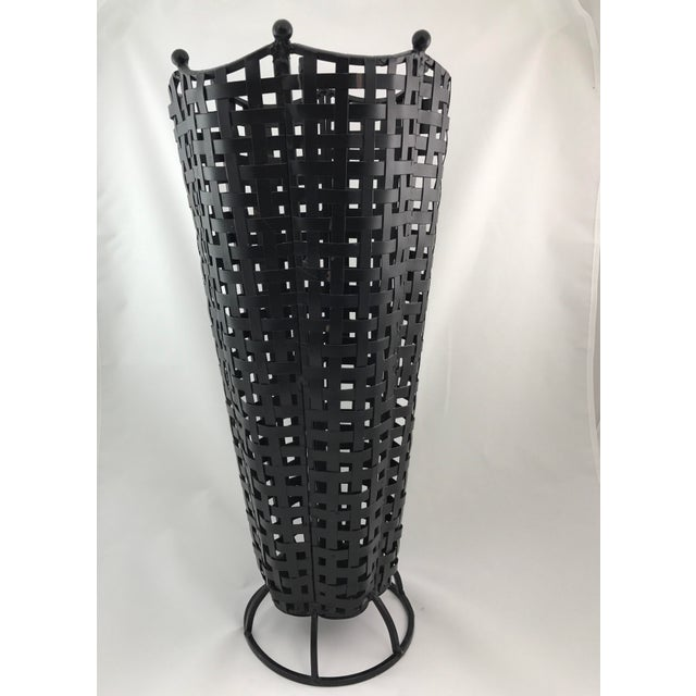 Woven Wrought Iron Umbrella Stand - Image 3 of 7