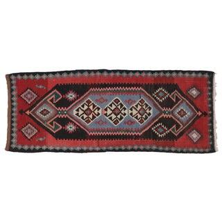 "Vintage Persian Tribal Kilim - 4'6"" X 11'3"""