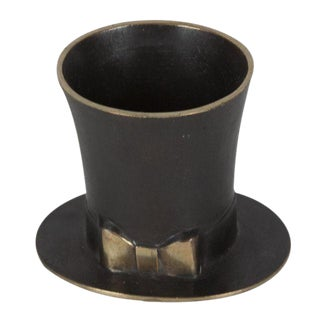 Patinated Bronze Top Hat by Carl Auböck