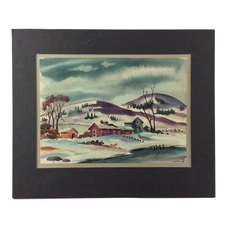L.J. Miller Landscape Watercolor Painting