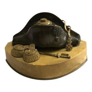 Bicorn Hat Bronze Inkwell