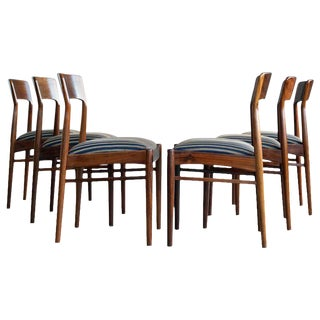 Kai Kristiansen for K.S. Mobler of Denmark Rosewood Dining Chairs - Set of 6