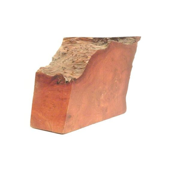 Vintage California Redwood Burl Abstract Sculpture - Image 3 of 5