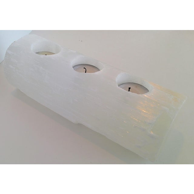 Selenite Branch Tealight Candle Holder - Image 5 of 8