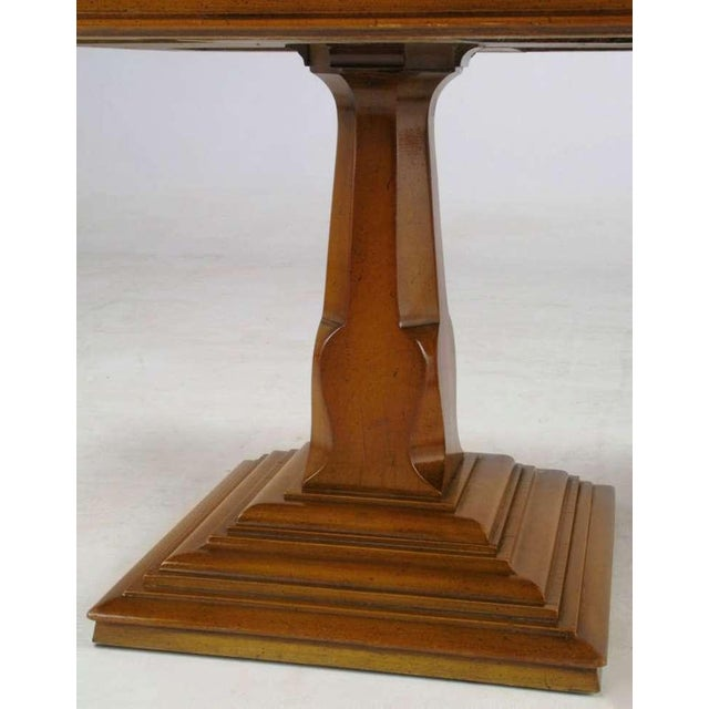 Image of Pair Spanish Revival Maple & Portugese Travertine Side Tables