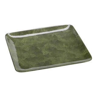 Green Shagreen Serving Tray