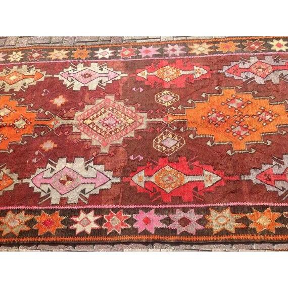 Image of Vintage Turkish Kilim Rug - 5′ × 13′1″