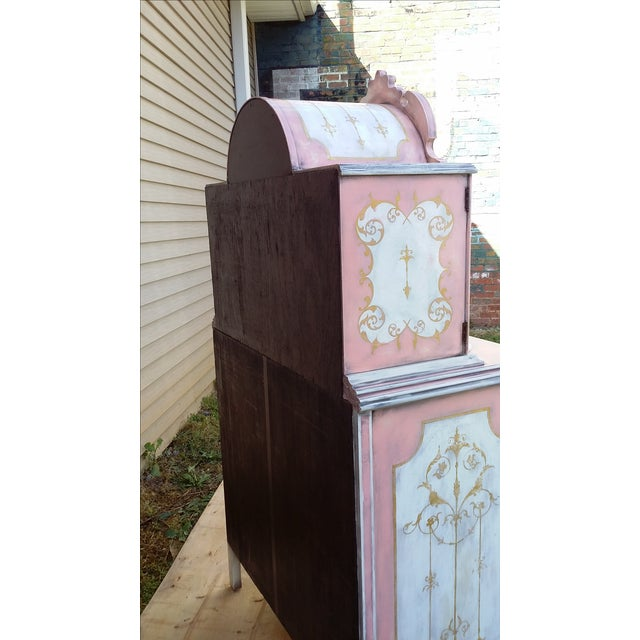 Antiqued Pink & Gold French-Style Dresser - Image 5 of 11