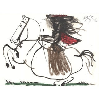 1959 Equestrian Print by Pablo Picasso