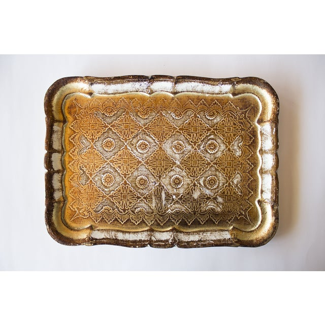 Vintage Italian Gold Pressed Tray - Image 2 of 3