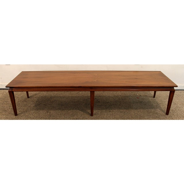 Mid Century Danish Modern Elongated Walnut Coffee Table