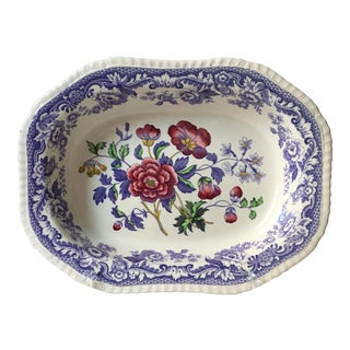 Vintage Spode Mayflower Pattern Transferware Serving Bowl