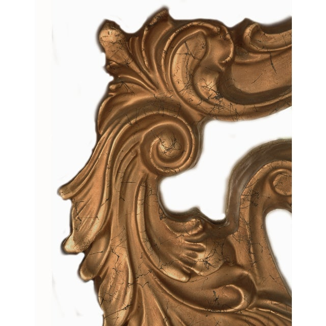 Ornate Gold French Mirror, Hollywood Regency Style - Image 3 of 3