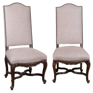 Pair of 19th Century Régence Style Side Chairs in Oak