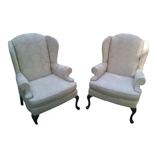 Vintage Original Highback Wingchairs - A Pair