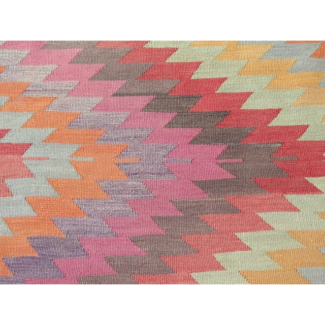 "Image of Vintage Turkish Kilim Rug - 5'9"" X 9'3"""