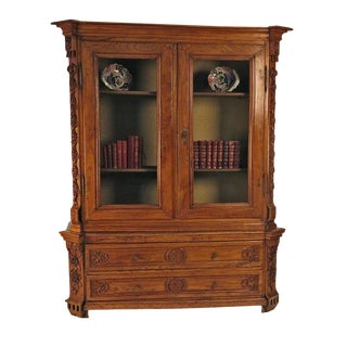 Elm Richly Carved Baltic Cabinet