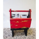 Image of Rustic Red Tool Box Carrier Caddy