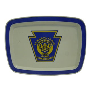 """1980 Vintage """"Pennsylvania Game Commission"""" Serving Tray"""