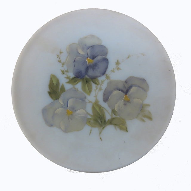 Hand-Painted Pansies Plate - Image 2 of 4
