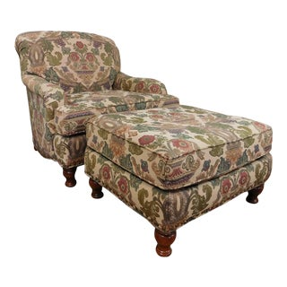 The Door Store Upholstered Armchair & Ottoman