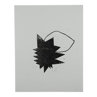"""Circle/Square/Triangle #6"" Linocut Print"