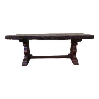 19th Century Spanish Oak Trestle Table