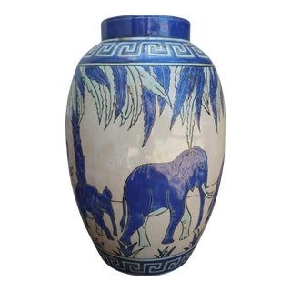 Art Deco Elephant Cloisonne Vase