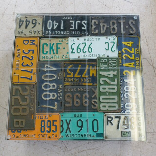 Americana License Plate Coffee Table - Image 3 of 3