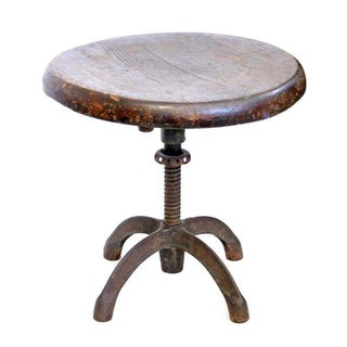 Adjustable Iron and Wood Stool