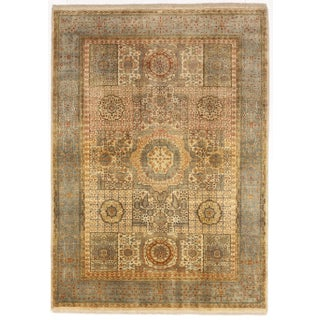 """Hand-Knotted Indian Mamluk Rug- 5'4"""" X 7'5"""""""