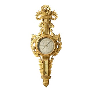 Period Louis XVI Gilt Wood Barometer