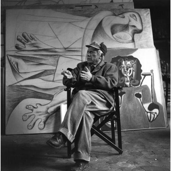 Image of 'Pablo Picasso in His Paris Art Studio' Photograph