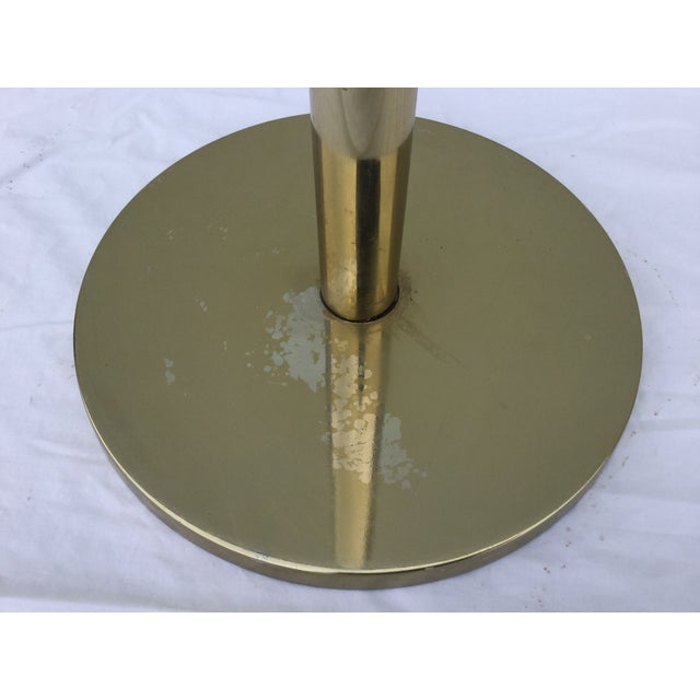 Laurel Brass Torchiere Floor Lamps - A Pair - Image 6 of 10
