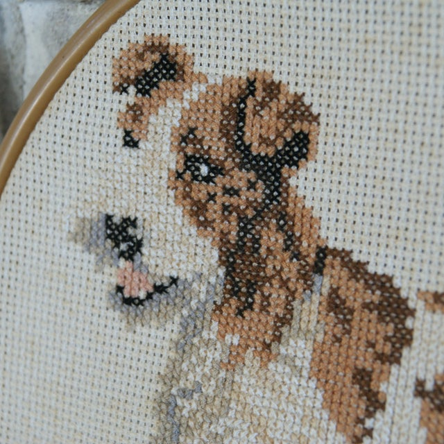 Vintage Needlepoint Fox Terrier - Image 4 of 5