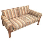 Image of 1970's Loveseat with Original Neutral Upholstery