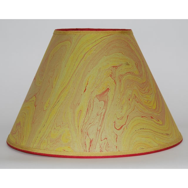Image of Olive & Red Marble Lampshade