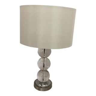Contemporary Crystal Ball Table Lamp with Shade